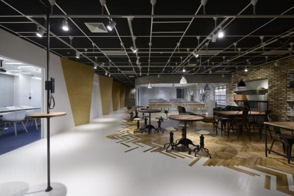 芸術的な現代アートのデザイン空間。</p>